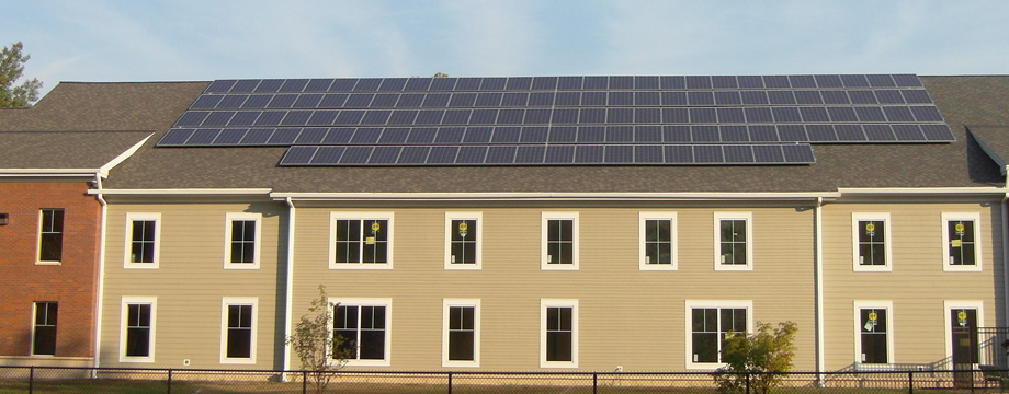 example photo of solar system installation project (Rowe MA)